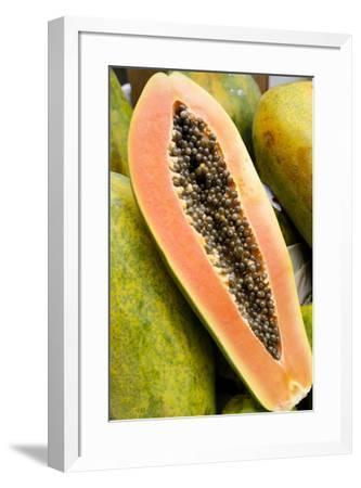 Papaya at a farmer's market in Philadelphia, Pennsylvania, USA.-Julien McRoberts-Framed Photographic Print