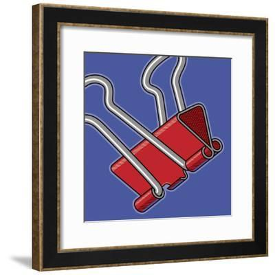 Paper Clip Office Supply-Ron Magnes-Framed Giclee Print