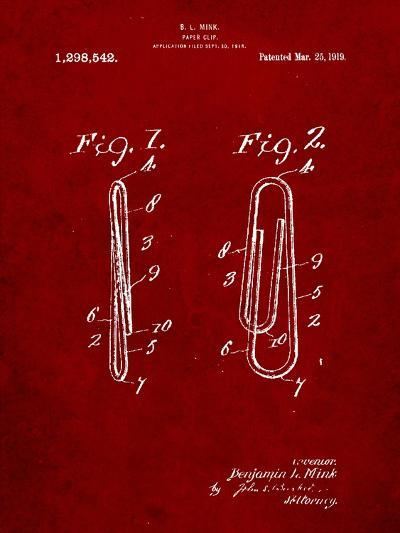 Paper Clip Patent-Cole Borders-Art Print
