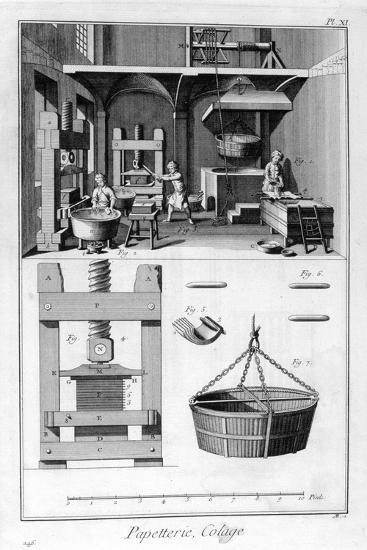 Paper Making, 1751-1777--Giclee Print