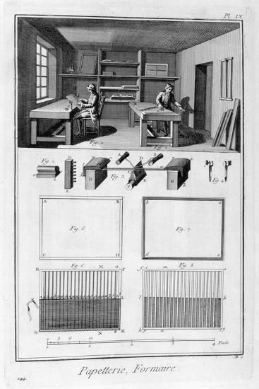 Paper Making, 1751-1777--Giclee Print