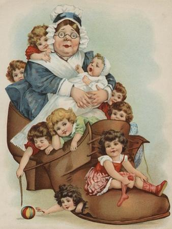 Trade Card with the Old Woman Who Lived in a Shoe by Paper Rodeo