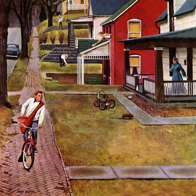 """Paperboy"", April 14, 1951-John Falter-Giclee Print"