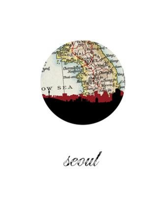 Seoul Map Skyline