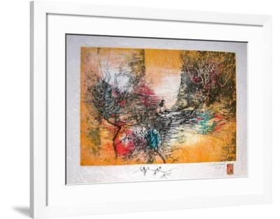 Papier De Riz - Sur Le Lac-Lebadang-Framed Premium Edition