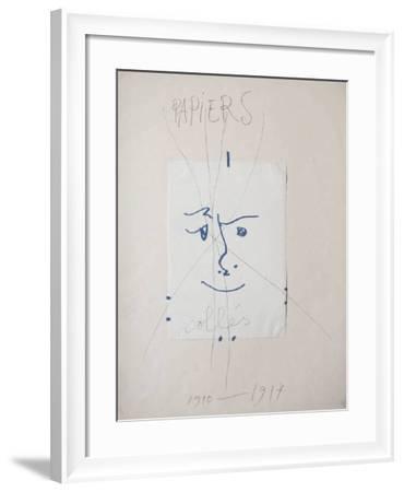 Papiers collés-Pablo Picasso-Framed Premium Edition