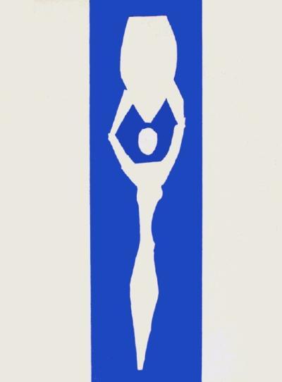 Papiers Decoupes - Femme a Lamphore-Henri Matisse-Collectable Print