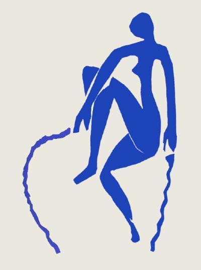Papiers Découpés : Nu Bleu Sauteuse De Corde-Henri Matisse-Collectable Print