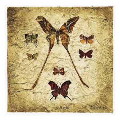 Papillons I V-Claudette Beauvais-Art Print