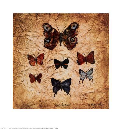 Papillons II-Claudette Beauvais-Art Print