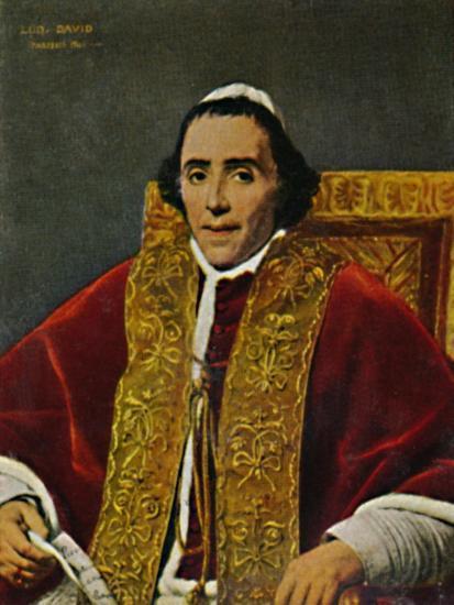 'Papst Pius VII. 1740-1823. - Gemälde von David', 1934-Unknown-Giclee Print