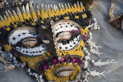 Papua New Guinea, Village of Kopar. Folk Art Souvenir Mask-Cindy Miller Hopkins-Photographic Print
