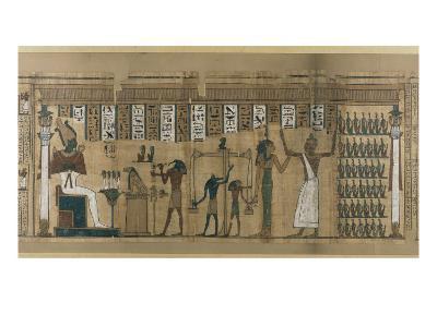 Papyrus funéraire de Nesmin : le défunt est introduit auprès d'Osiris--Giclee Print
