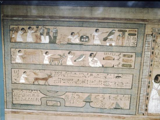 Papyrus of Ani, c1250 BC-Unknown-Giclee Print