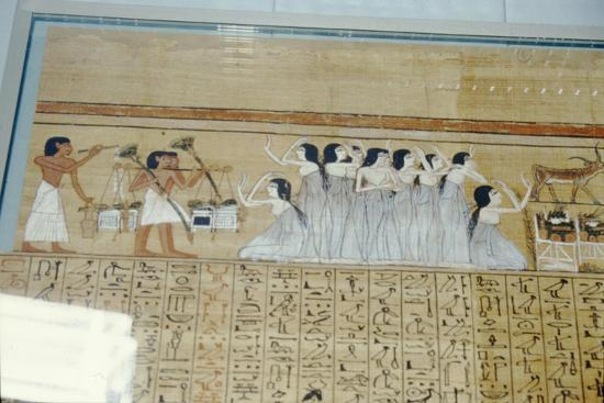 Papyrus of Ani, Mourners Ancient Egyptian Funeral Procession, c1250 BC-Unknown-Giclee Print