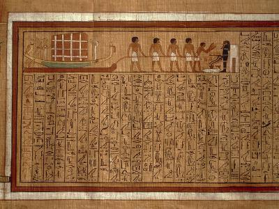 Papyrus of the 'Book of the Dead' Hieroglyphs and Polychrome Illustrations--Giclee Print