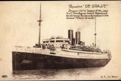 Paquebot De Grasse, Cgt, Dampfschiff, Frankreich--Giclee Print