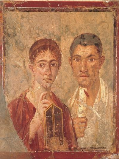 Paquius Proculus and His Wife (Terentius Neo and His Wife)--Giclee Print