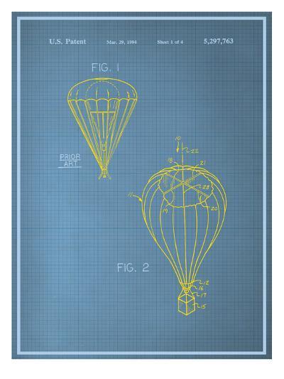Parachute Blueprint--Art Print