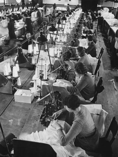 Parachute Factory WWII-Robert Hunt-Photographic Print