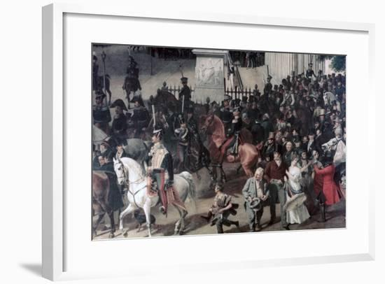 Parade at the Opera Place, Berlin, (Detail), C1817-1857-Franz Kruger-Framed Giclee Print