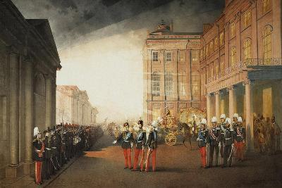 Parade in Front of the Anichkov Palace on 26 February 1870, 1870-Mihály Zichy-Giclee Print