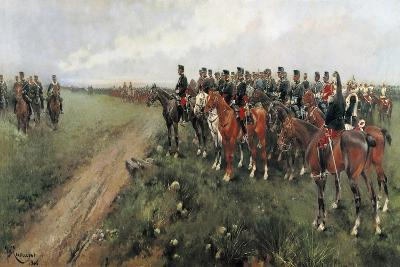 Parade in the Field before His Majesty King Alfonso XIII, 1905-Josep Cusachs y Cusachs-Giclee Print