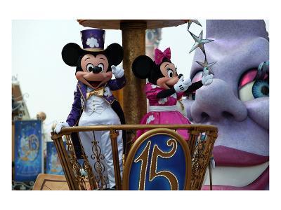 Parade in the Main Street U.S.A., Disneyland Resort Paris, Ile-de-France, France--Art Print