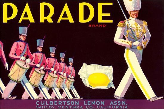 Parade Lemon Label--Art Print