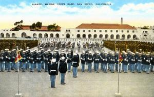 Parade, Marine Base, San Diego, California