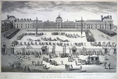 Parade of the Troops During the Grand Parade, Tuileries Palace, 19th Century--Giclee Print