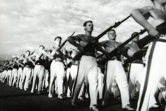 Parade of the Young Communists, Moscow--Photographic Print