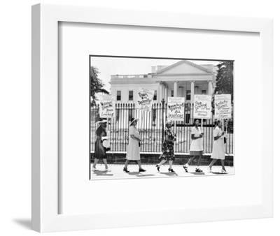 Parade Past the White House--Framed Photographic Print