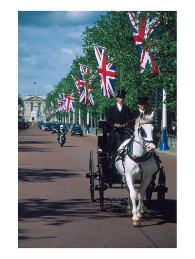 Parade with coach, London, United Kingdom of Great Britain--Art Print