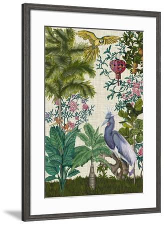 Paradis Chinoiserie I-Naomi McCavitt-Framed Giclee Print