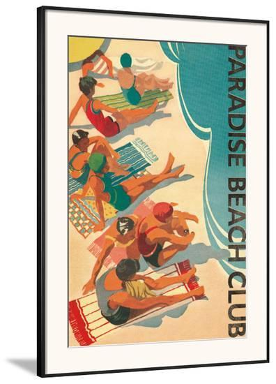 Paradise Beach Club-Hugo Wild-Framed Art Print
