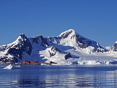 Paradise Harbour, the Chilean Base in Paradise Harbour on Antarctic Peninsula, Antarctica-Mark Hannaford-Photographic Print
