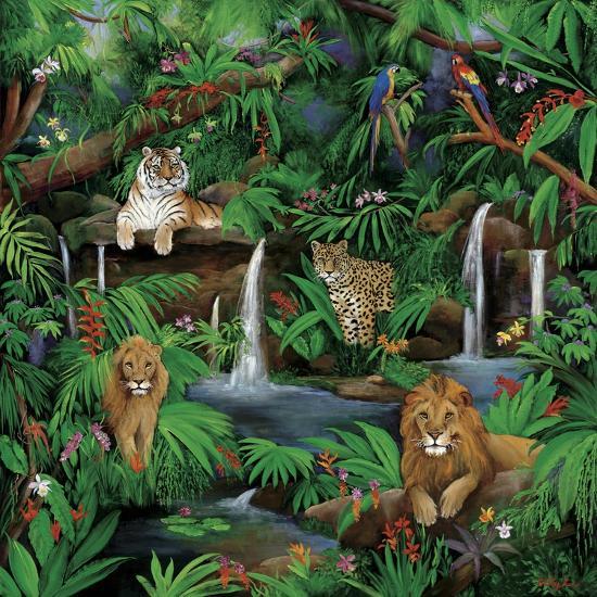 Paradise Jungle-Betty Lou-Giclee Print