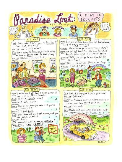 """Paradise Lost: A Play in Four Acts"" - Cartoon-Roz Chast-Premium Giclee Print"