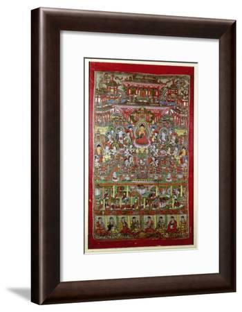 Paradise of Amitabha, from Dunhuang, Gansu Province--Framed Giclee Print