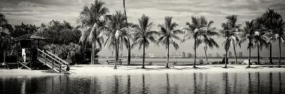 Paradisiacal Beach overlooking Downtown Miami - Florida-Philippe Hugonnard-Photographic Print
