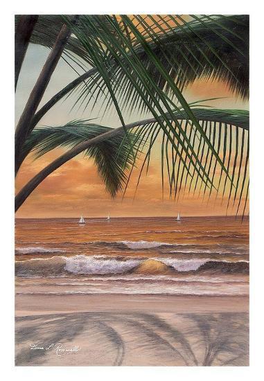 Paradiso Sunset-Diane Romanello-Art Print