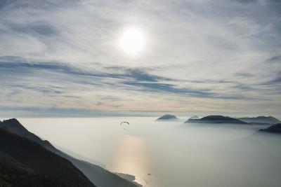 Paraglider, Aviation, Paragliding, Lake Garda, Monte Baldo-Frank Fleischmann-Photographic Print