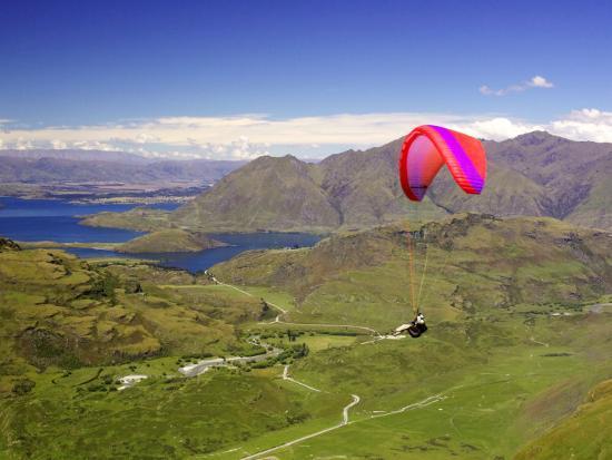 Paraglider, South Island, New Zealand-David Wall-Photographic Print