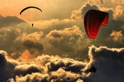 Paragliding 2-Yavuz Sariyildiz-Photographic Print