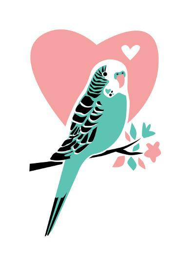 Parakeet-3-Jilly Jack Designs-Art Print