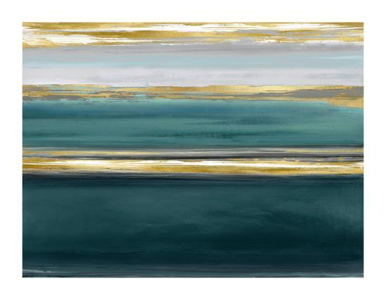 Parallel Lines on Teal-Allie Corbin-Giclee Print