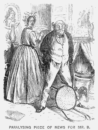 Paralysing Piece of News for Mr B, 1866-George Du Maurier-Giclee Print