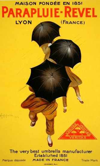 Parapluie Revel (c.1920)-Leonetto Cappiello-Collectable Print