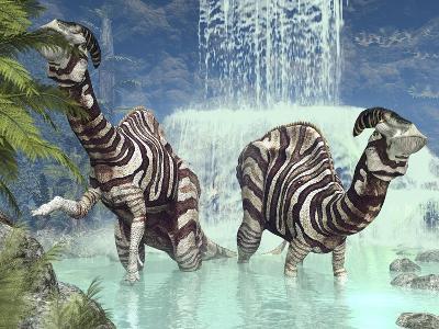 Parasaurolophus Dinosaurs-Walter Myers-Photographic Print